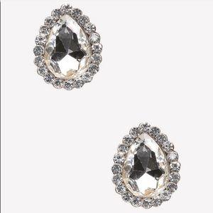 Bebe crystal drop stud earring